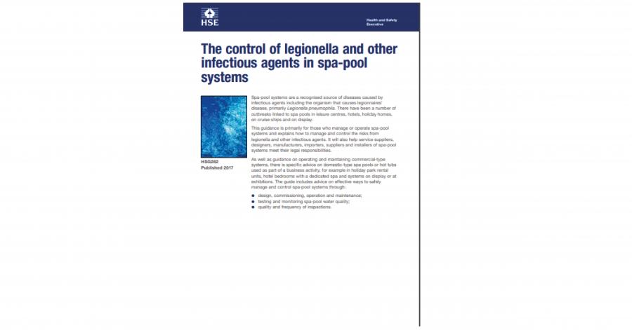 HSG282 The control of legionella and other infectious agents in spa-pool systems